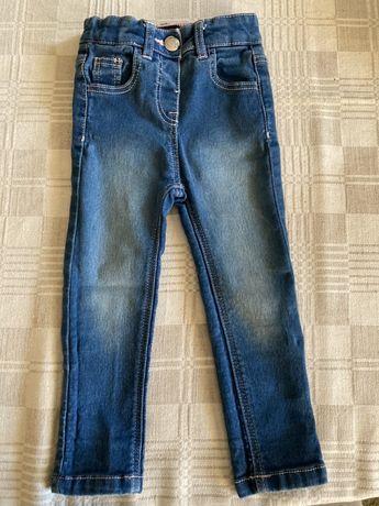 Bawelniane spodnie w stylu denim