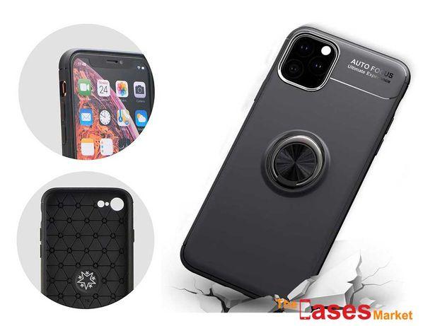 Capa silicone com anel magnético iPhone 11 / 11 Pro / 11 Pro MAX