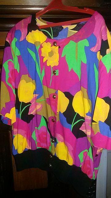 Яркая блуза в стиле Ретро:-)