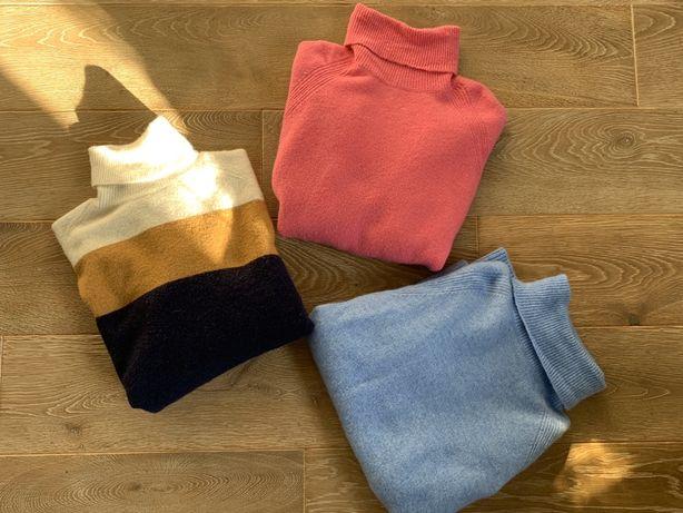 J. Crew S swetry golfy oversize 3 kolory j.crew niebieski