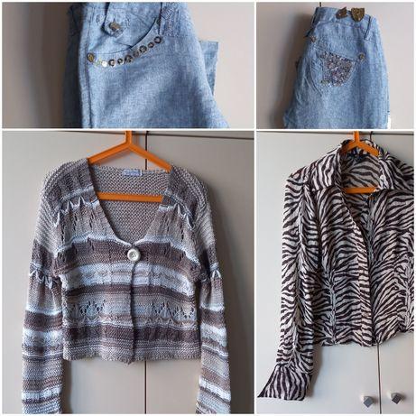 Джинсы M,  свитер, блузка S, цена за все