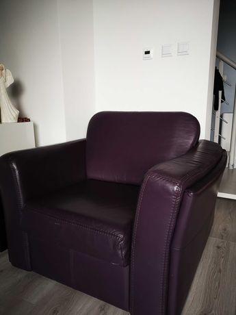Skórzany fotel jak nowy