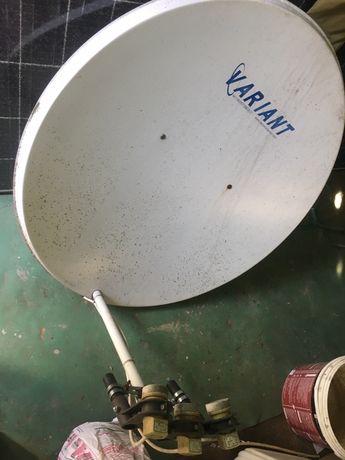 Спутниковая тарелка Variant, антенна спутниковое тв, ресивер