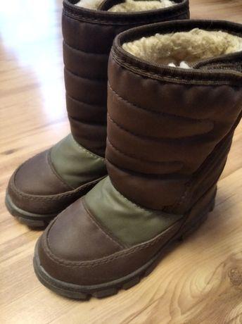 Buty śniegowce chłopięce
