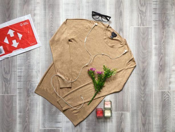 Свитер коричневый H&M, размер S М, котон шерсть кофта худи