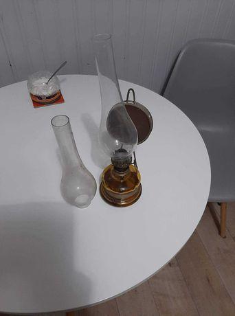 Lampa naftowa antyczna + dodatkowo klosz