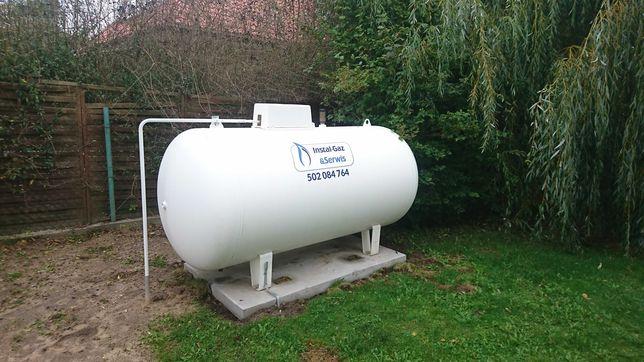 Zbiornik na gaz propan, 2700, 4850, 6400, montaż, LPG