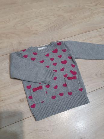 Sweter rozm. 98 H&M jak nowy sweterek dla dziewczynki
