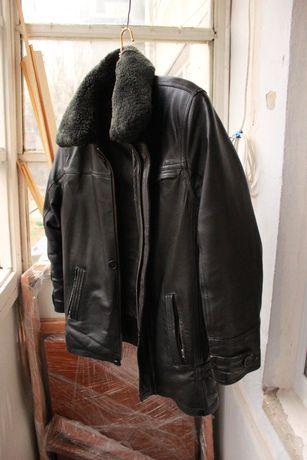 Зимняя кожанная курточка