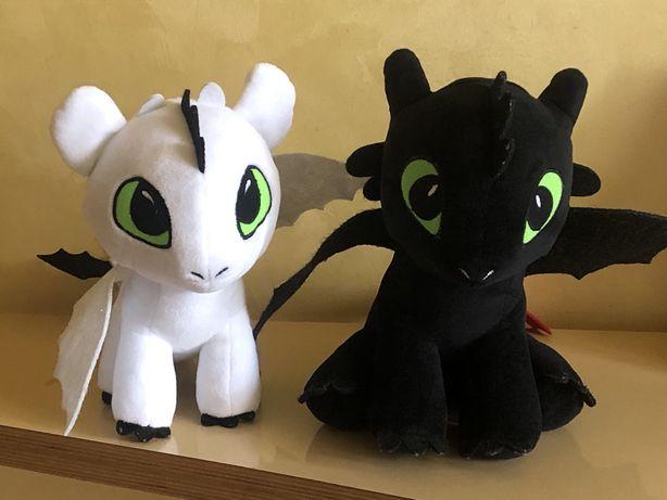 Мягкие драконы Беззубик и Белая фурия