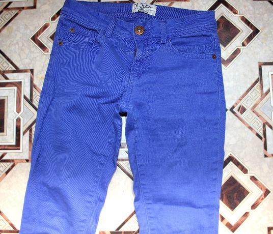 Штаны джинсы синие 24-25 размер брюки