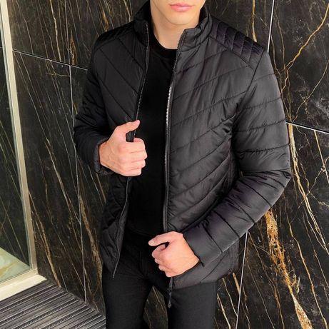 БЕСПЛАТНО доставка!Теплая мужская осенняя куртка стеганая бомбер