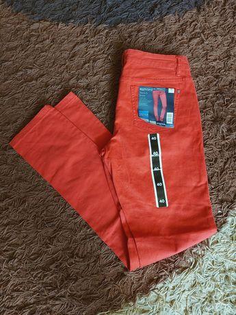 Spodnie rurki Esmara czerwień nowe