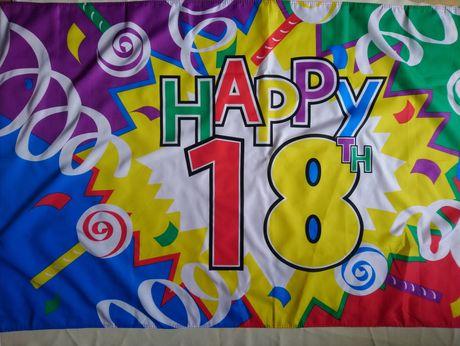 Плакат флаг Happy 18