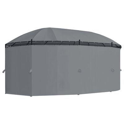 Gazebo com cortinas 530x350x265 cm antracite