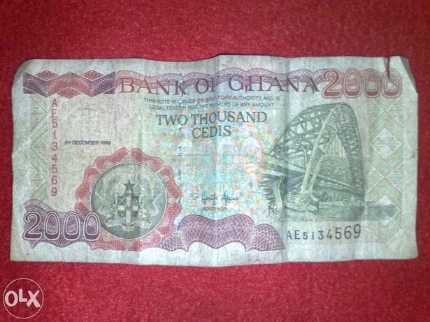 Nota Bank of Ghana 2000 Cedis