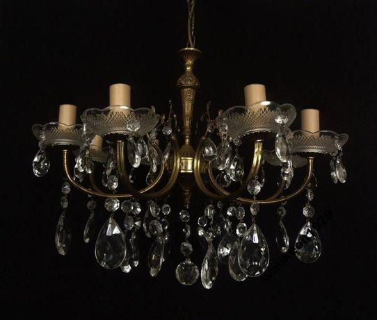 Люстра хрустальная, на 8 ламп, Франция 1930-е г.