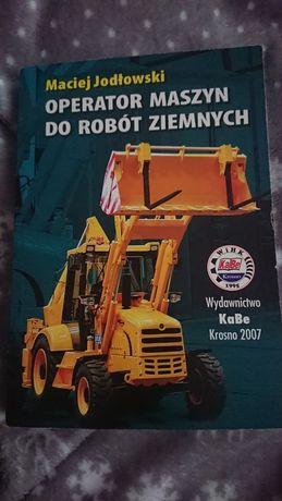 Książka operator maszyn do robót ziemnych