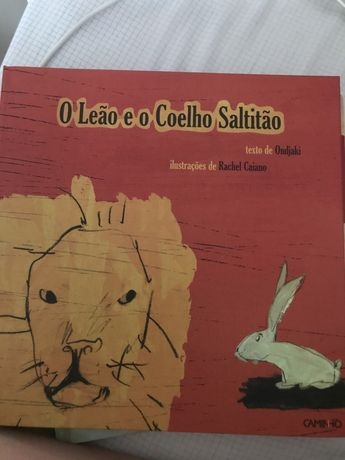 livro infantil O leao e o Coelho Saltitão