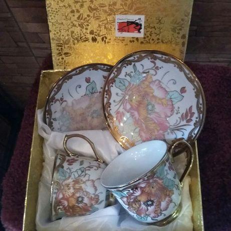Подарочный набор для двоих 2 чайные чашки в коробке