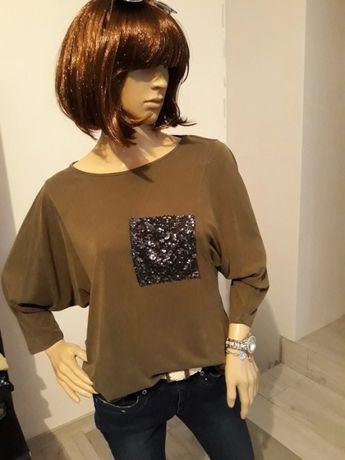 Świetna koszulka w kolorze khaki