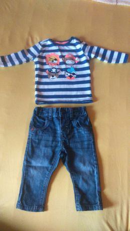 Zestaw dla chlopca bluzka + spodnie