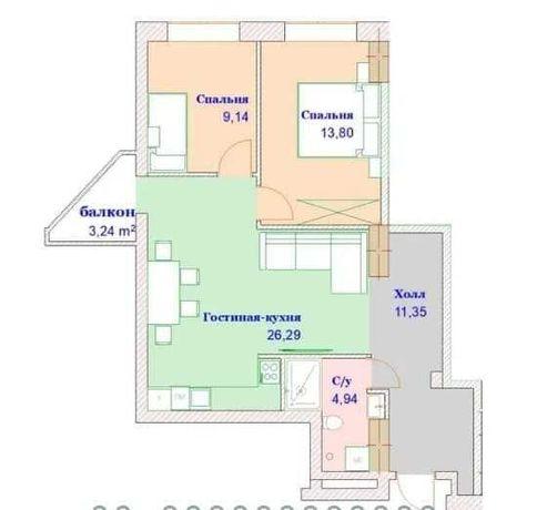 Продам большую квартиру в ЖК Монте Плаза, пр. Науки, 23 августа