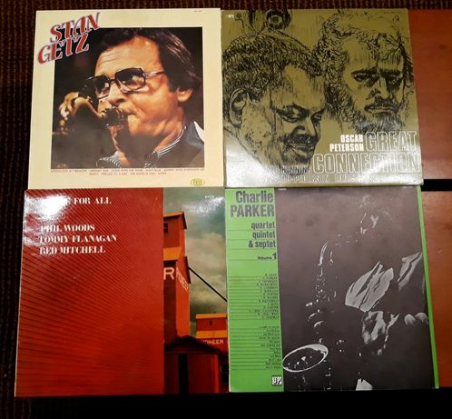 Vinis: Oscar Peterson / Phill Woods, Tommy Flanagan, Red Mitchel