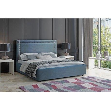 NOVEL łóżko pikowane 180x200 z materacem w komplecie i stelażem