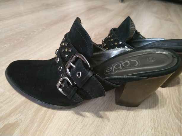 Сабо 41 размер, туфли натуральная замша