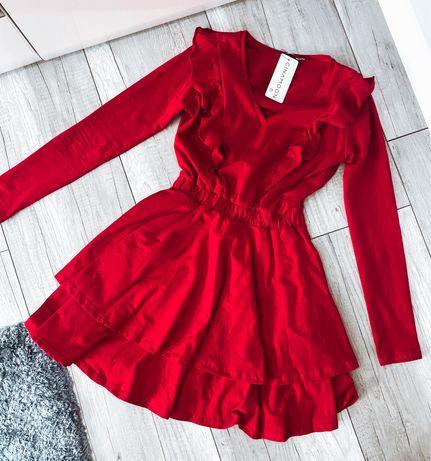 Nowa czerwona damska sukienka cinamoon  34 36 XS S