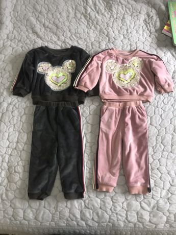 Велюровый костюм 80-86-92 размер, 12-18 месяцев.