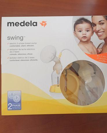 Bomba medela swing + esterilizador + acessorios