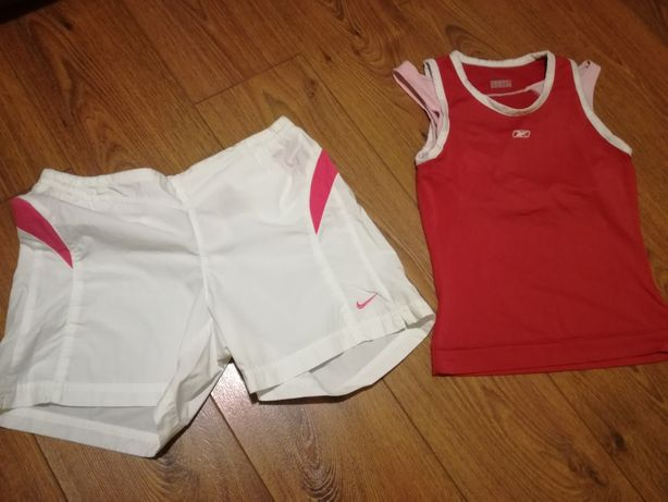 Spodenki Nike bluzka Reebok