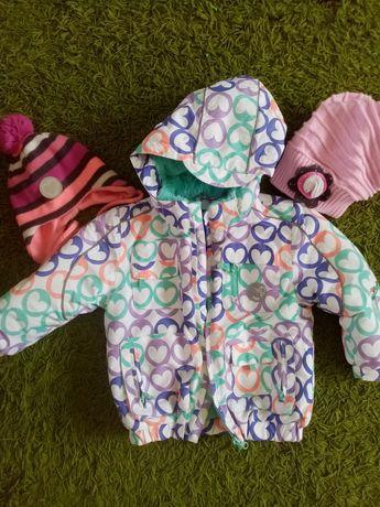 Zimowa kurtka dla dziewczynki Cool Club, Smyk r. 98 czapka