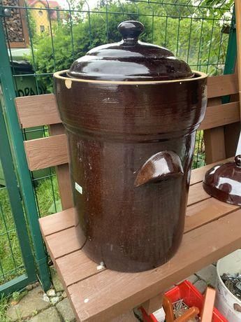 Beczka Boleslawiec 30 l do kiszenia z pokrywką (GU1084)