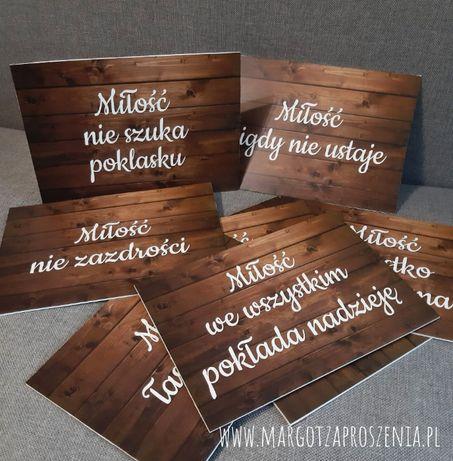 12 tabliczek - hymn o miłości dekoracja kościoła