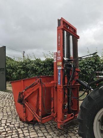 Porta-paletes hidráulico para tractor + balde