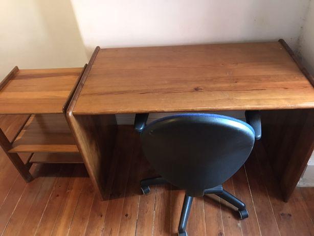 Mesa secretária de escritorio + Mesa de Apoio + Cadeira 150EUR