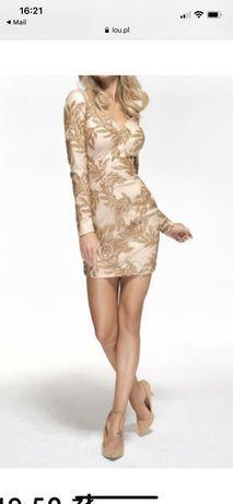Sukienka Lou złota liście cekiny