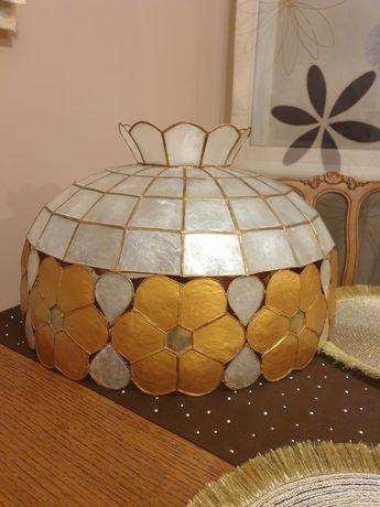Lampa wisząca abażur Tiffany witrażowa