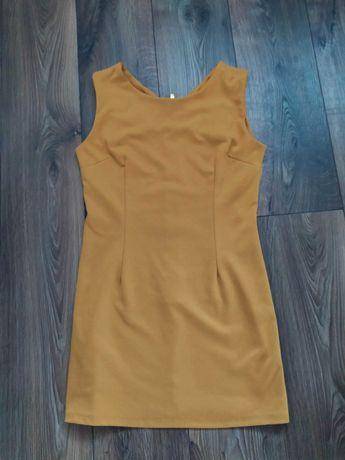 Sukienka musztardowa L XL