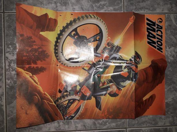 Poster action man antigo 1998 hasbro