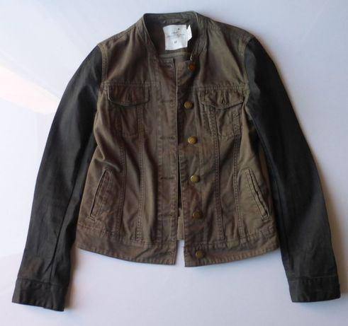 Katana oliwkowa kurtka przejściowa jeansowa H&M 36 S wiosenna damska