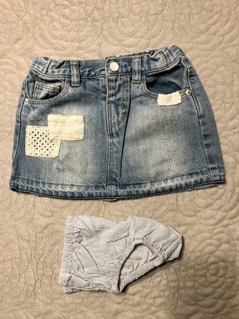 Spódniczka zara jeansowa r. 104