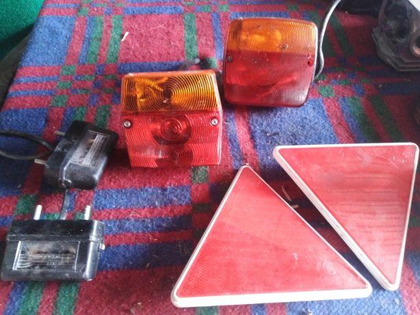 Elementy odblaskowe i lampy - nowe 5 sztuk - zestaw do traktora