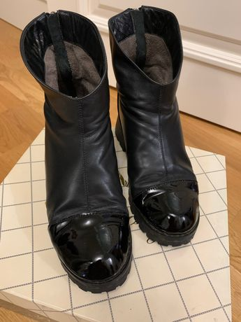 Демисезонные ботинки кожа+лак,38