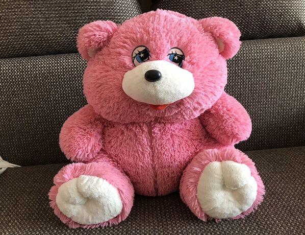 Розовый медведь , плюшевый мишка
