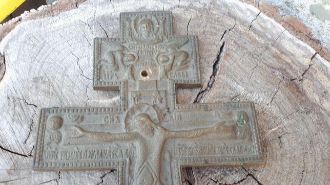 Крест латунный старинный