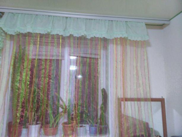 Тюль +ламбрикен для окна
